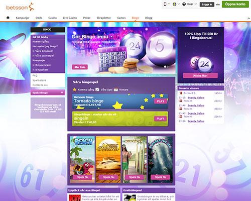 betsson.com bingo